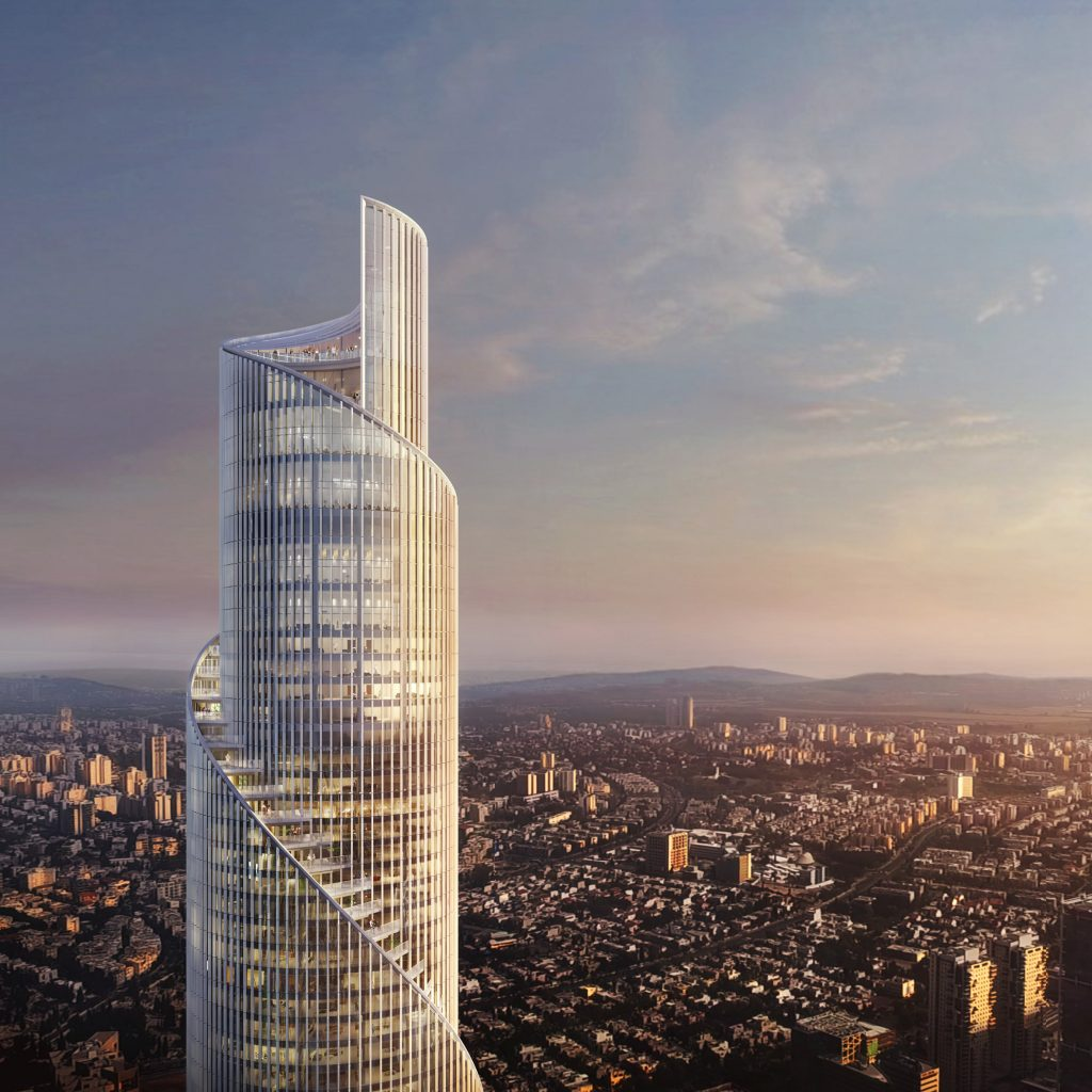 KPF unveils scrolling supertall skyscraper for Tel Aviv