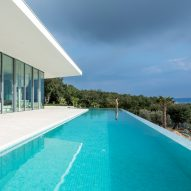 Turato Architects embeds angular Bedrock House into hillside of Croatian island