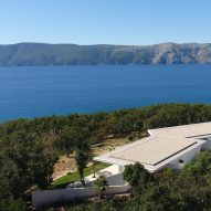 Drone photo of Bedrock House by Idis Turato in Croatia