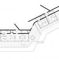 Floor plan of Bedrock House by Idis Turato in Croatia