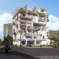 Balconies will double as exhibition space in WORKac's Beirut Museum of Art