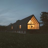 Studio Bark builds off-grid Black Barn in Suffolk meadow