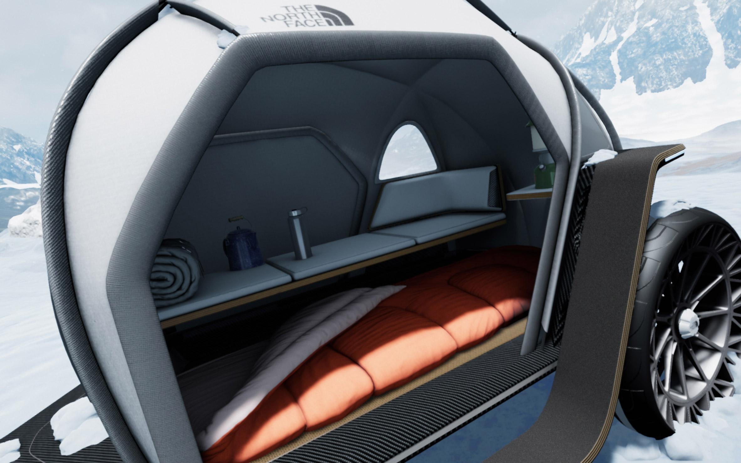 BMW Designworks and North Face debut futuristic camper concept at CES