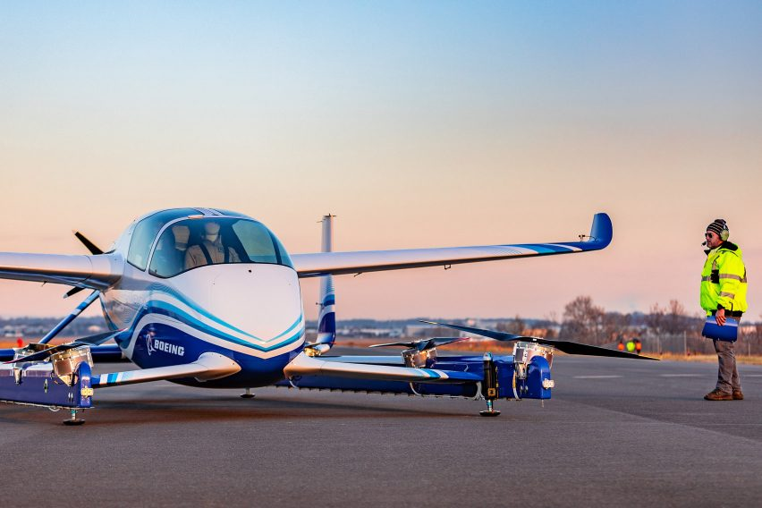 Boeing electric autonomous passenger drone – flying car