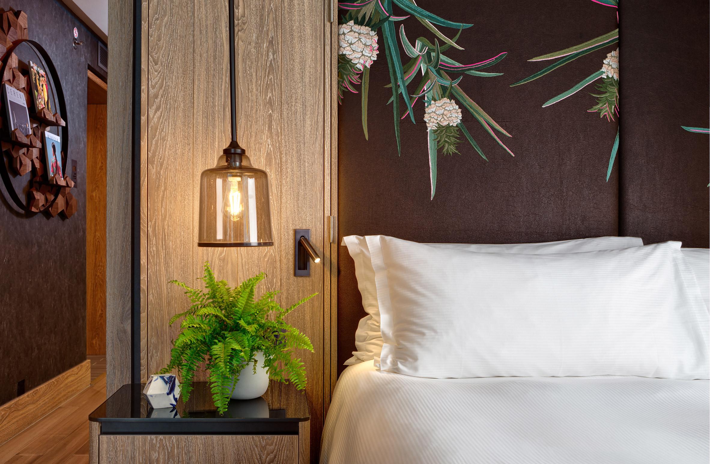 Bompass & Parr vegan suite inside Hilton London Bankside hotel