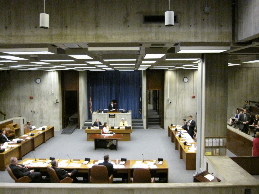 Boston City Hall council chamber