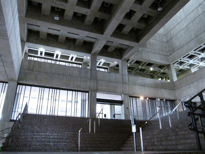 Boston City Hall lobby atrium