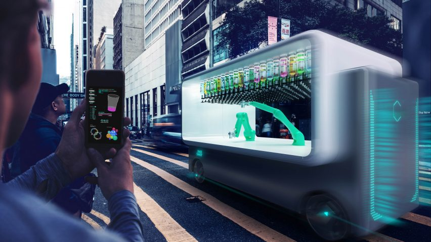 "Carlo Ratti designs driverless ""drink-hailing"" robotic bar called Guido"