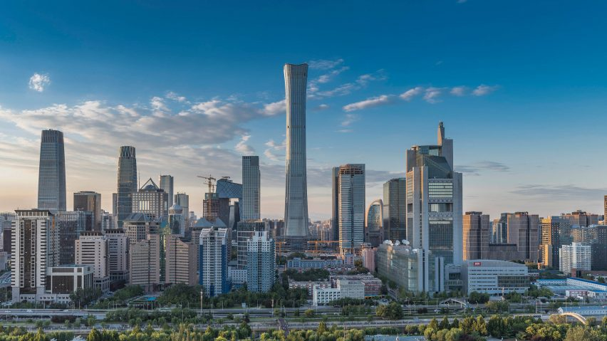 Beijing has the tallest new skyscraper, the 528-metre-high CITIC Tower by Kohn Pedersen Fox