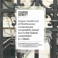 Cooper Hewitt Smithsonian Design Museum closed due to US government shutdown