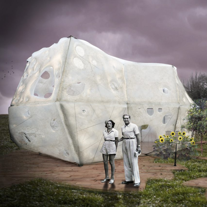 Cocoon BioFloss would enable people to grow their own micro homes