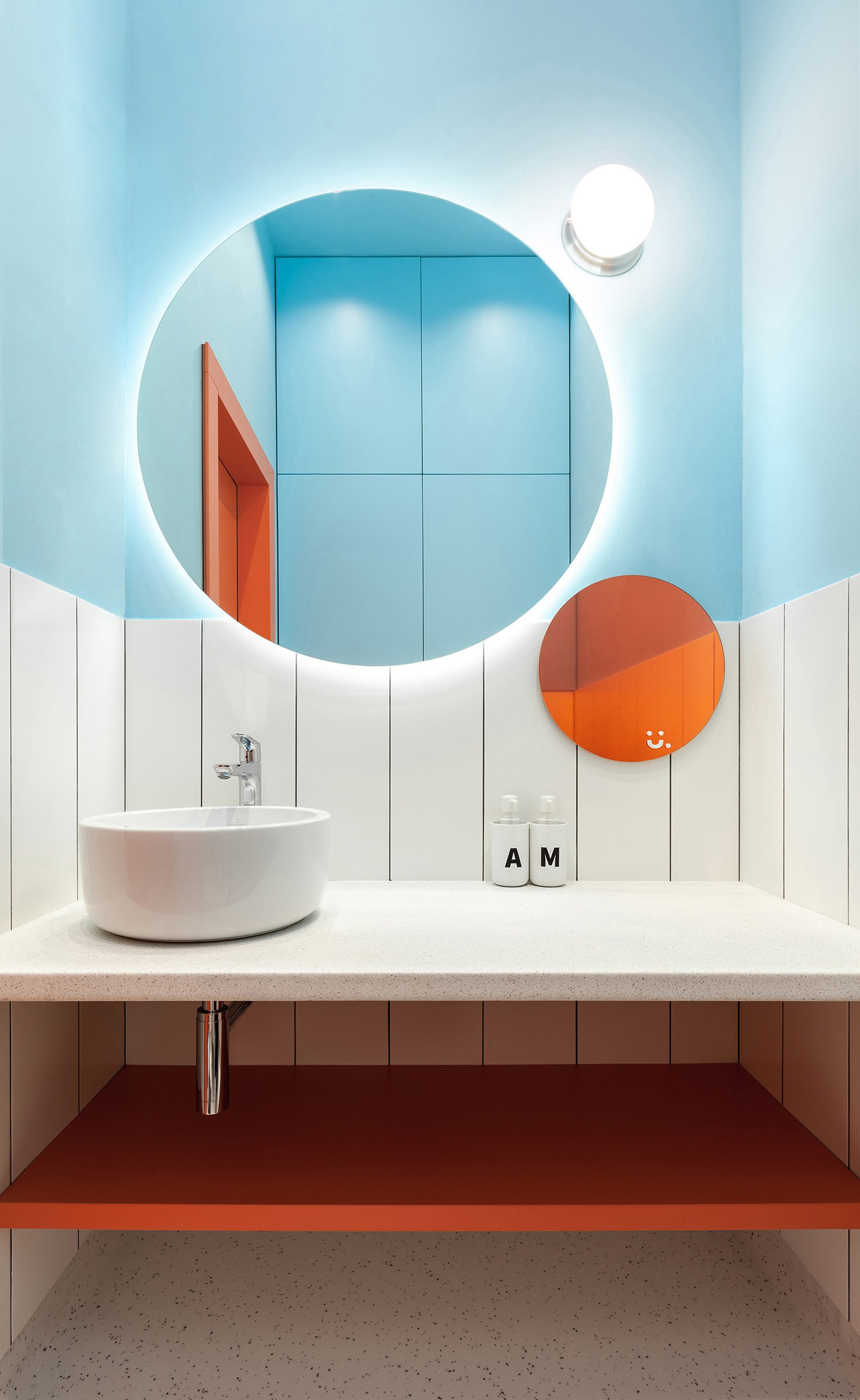 Interiors of Doctor U clinic designed by Ater Architects