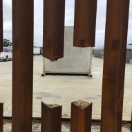 Steel-slat prototype for Trump's Mexican border wall can be sliced by saw
