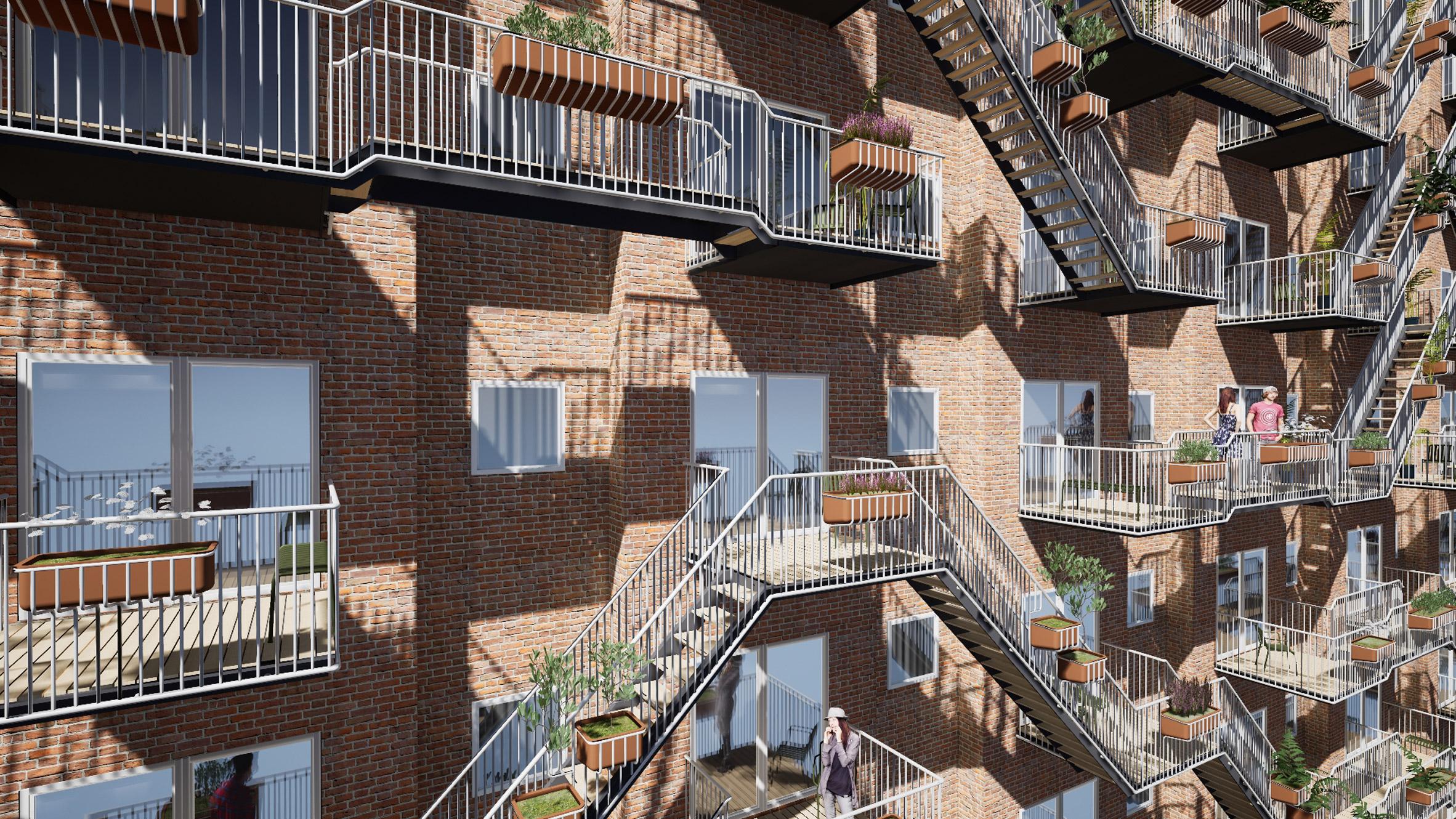 Social Balconies concept by Edwin Van Capelleveen