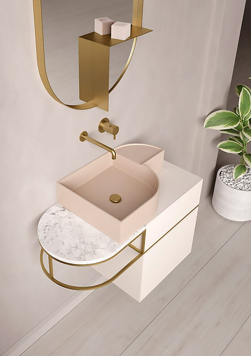 Nouveau bathroom furniture by Bernhardt-Vella for Ex.T