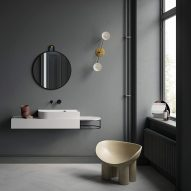 Bernhardt-Vella creates mismatched geometries in Nouveau bathroom collection for Ex.T