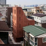 STPMJ stacks rooms to create skinny brick house in Seoul