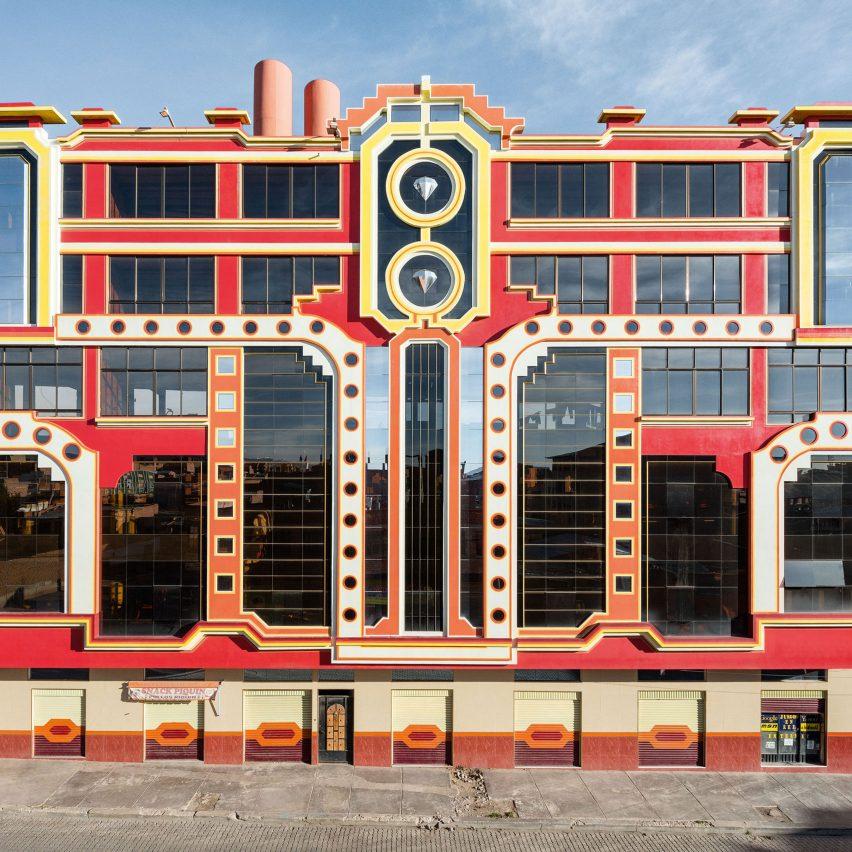 Freddy Mamani's work in El Alto, Bolivia