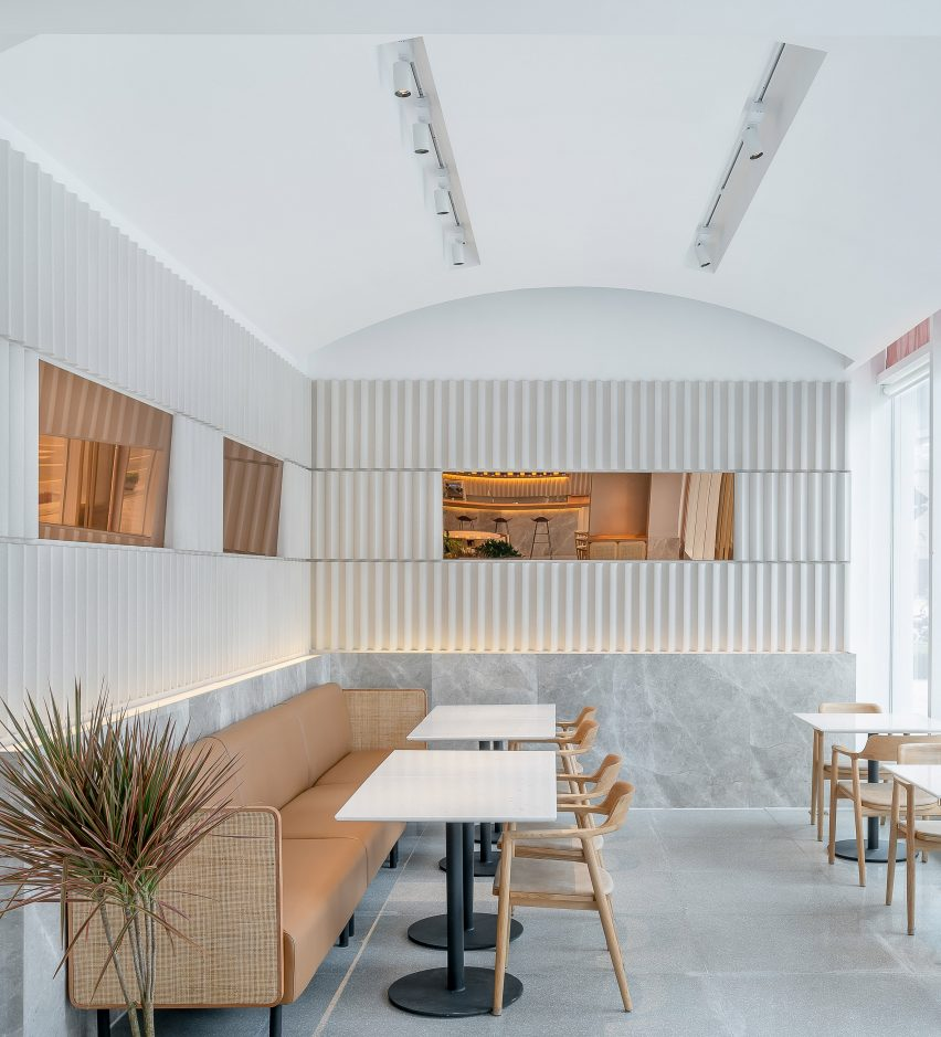 Interiors of Genshang restaurant designed by Office Coastline