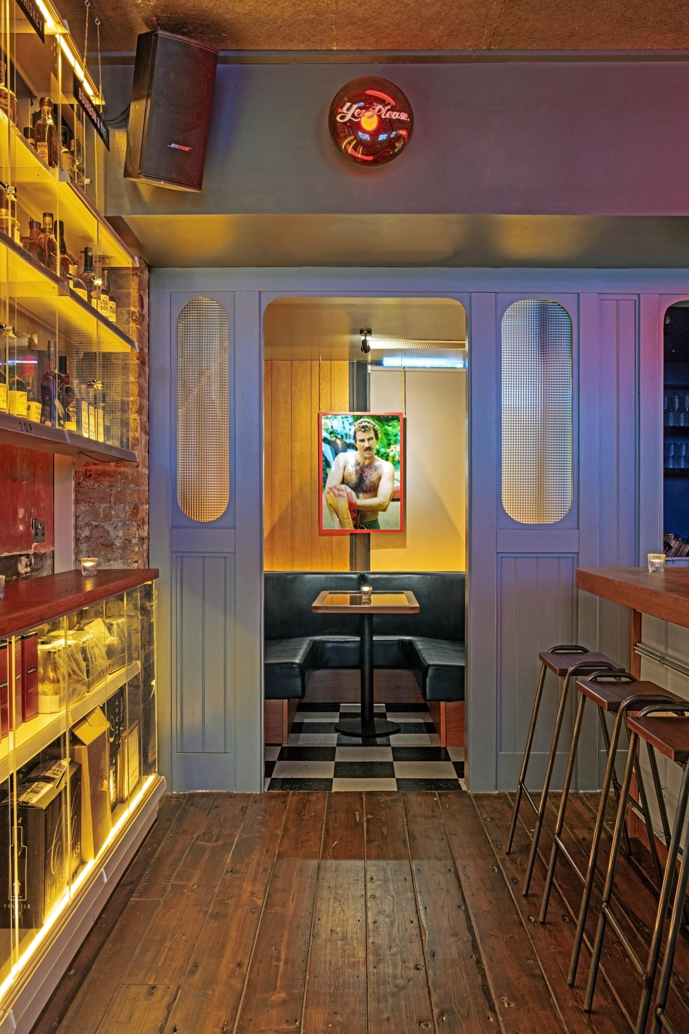 Interiors of Genuine Liquorette London, designed by AvroKO