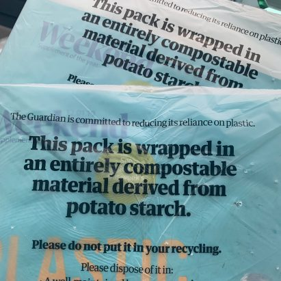 The Guardian newspaper switches from plastic to biodegradable wrapping