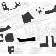 Site plan of Oodi Helsinki Central Library by ALA Architects