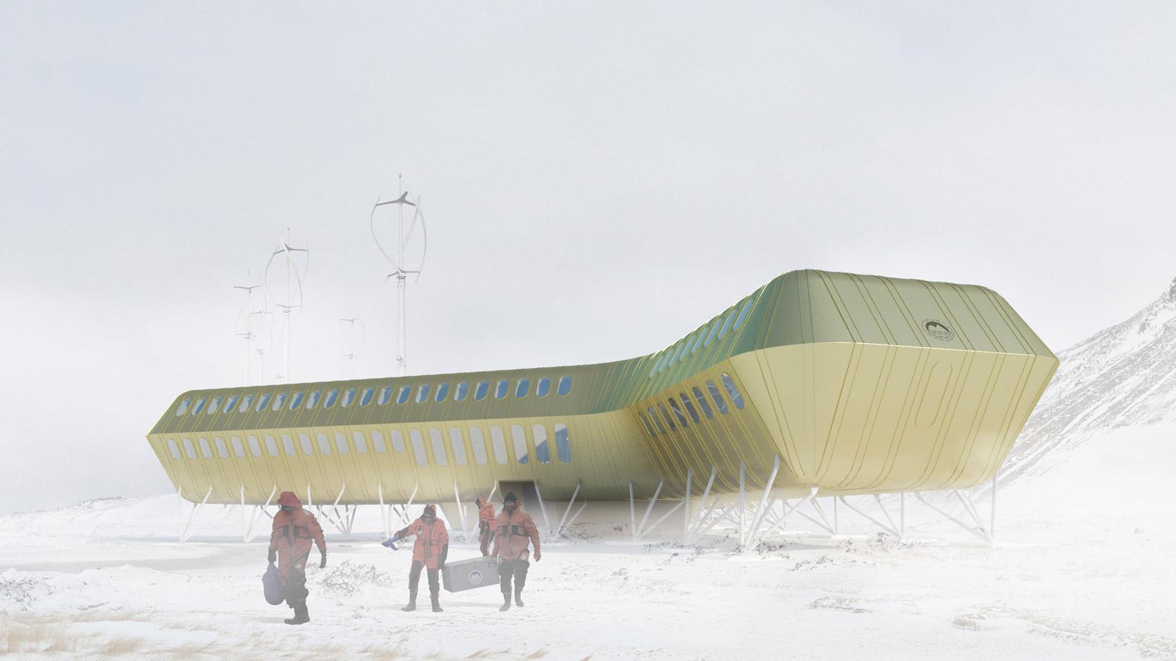 Kuryłowicz&Associates reveals design for golden Henry Arctowski Antarctic Station