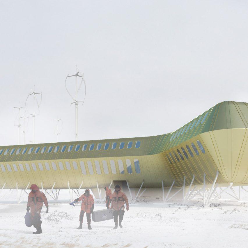 Kury?owicz&Associates reveals design for golden Antarctic research centre