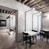 Interiors of La Ganea restaurant, designed by Studio Mabb