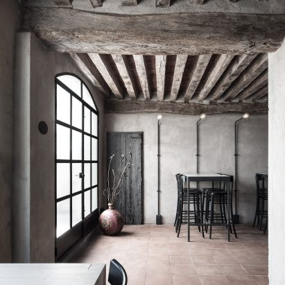 Interiors of La Ganea restaurant, designed by Studio Mabb