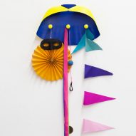 Constance Guisset creates superhero-themed coat hangers for Leblon Delienne