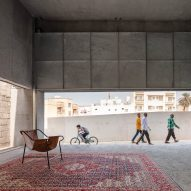 Concrete exhibition space showcases Bahrain's architectural past and present