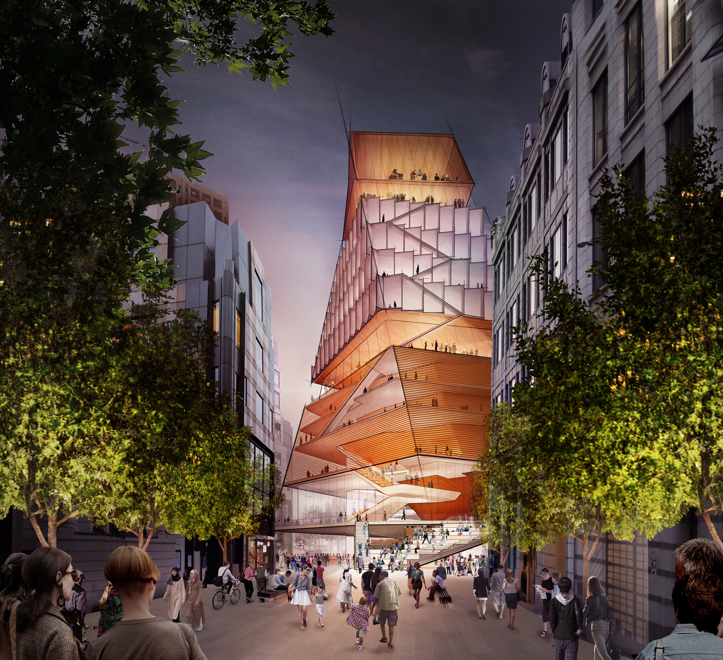 A visual of the London Centre for Music by Diller Scofidio + Renfro