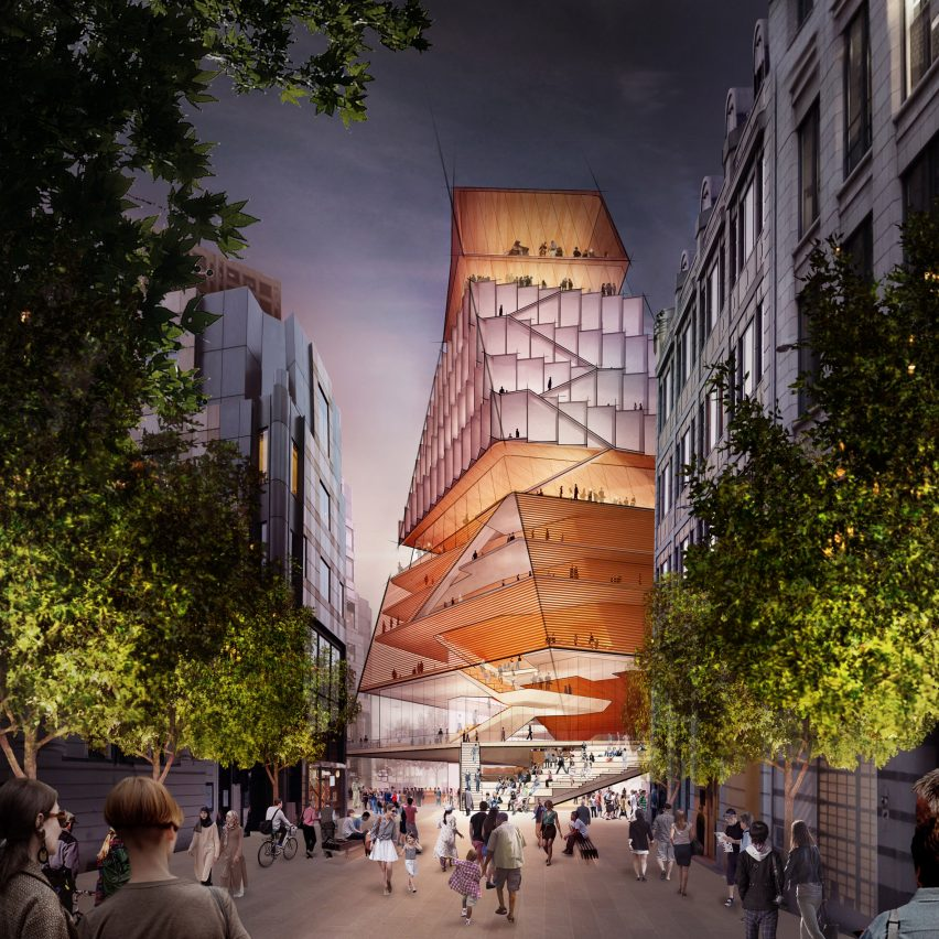 Diller Scofidio + Renfro unveils twisted pyramidal tower for Barbican concert hall