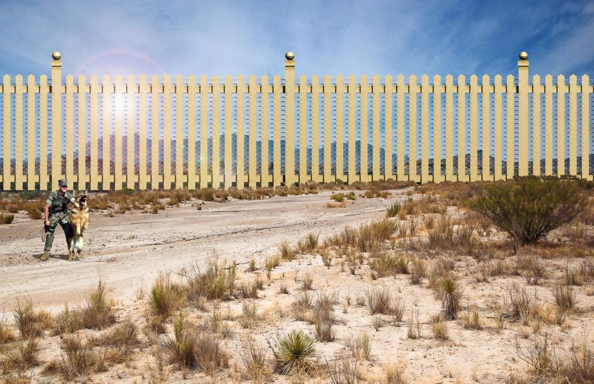 Mar-A-Lago border wall prototype by New World Design