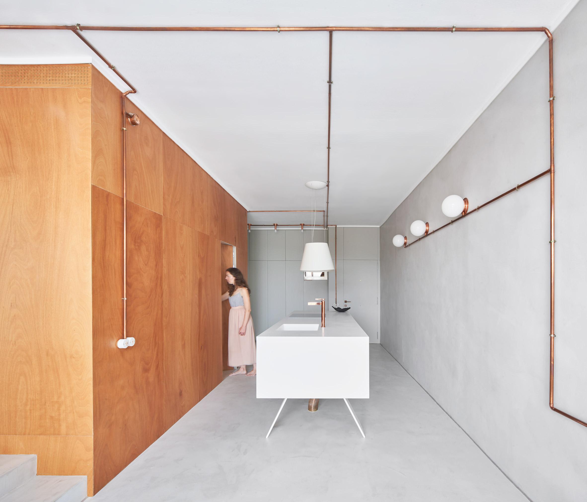 Interiors of Barcelona marina apartment, designed by Cometa Architects