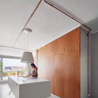 Interiors of Barcelona marina apartment, designed by Cometa Architects