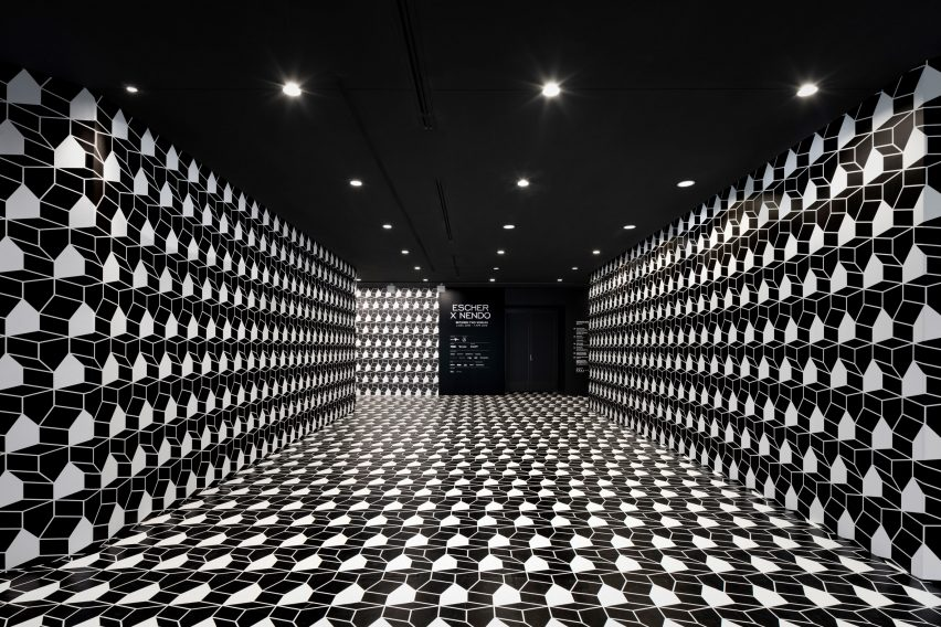 Oki Sato of Nendo has designed an exhibition of M.C. Escher's work at the National Gallery of Victoria in Melbourne.