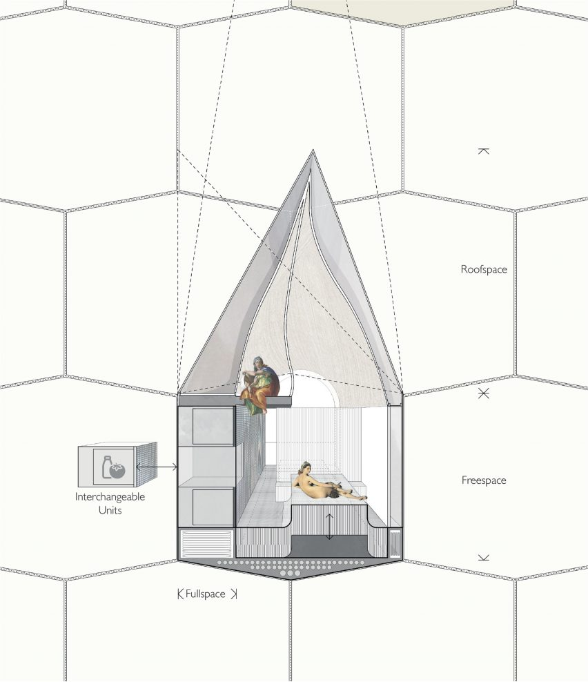 Hour Glass flying houses concept by Studio McLeod and Ekkist