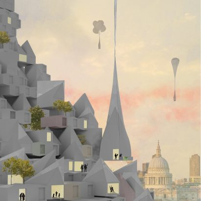 Hour Glass by Studio McLeod and Ekkist took second place in Dezeen and MINI Living's Future Urban 爱博体育官网 Competition