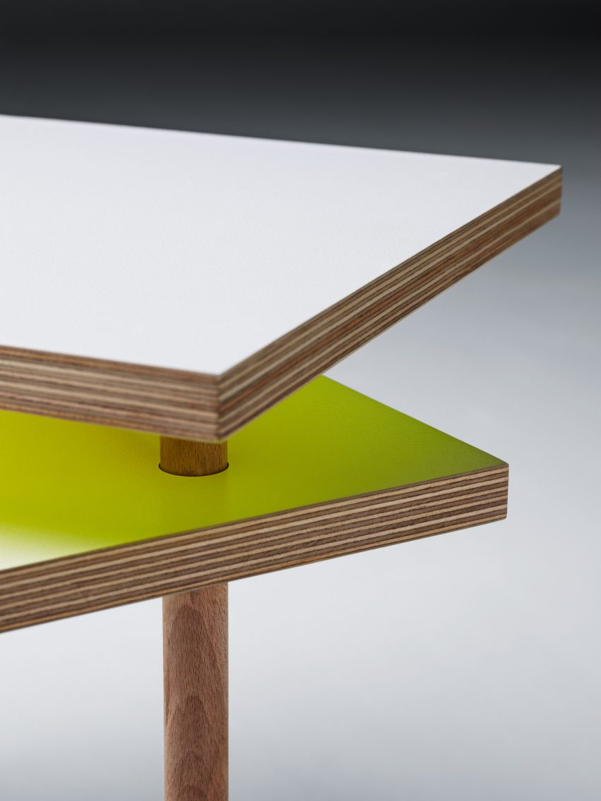 Yo Shimada debuts coffee table made from basic DIY store materials