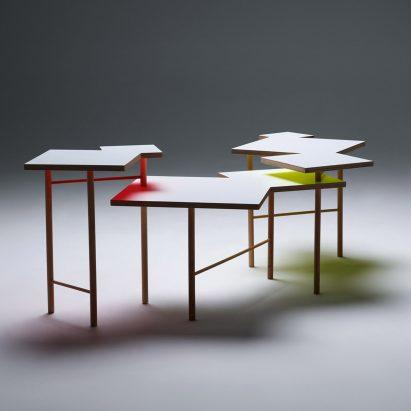 Yo Shimada debuts coffee table made from basic DIY store materials