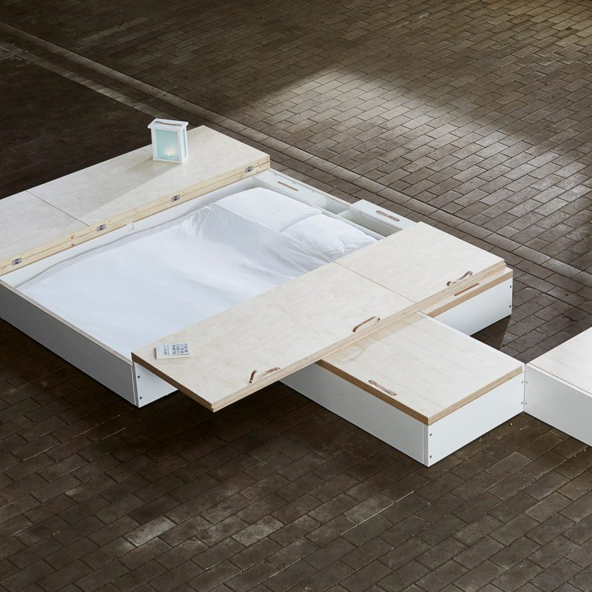 MoreFloor micro-living storage solution hides furniture beneath floorboards