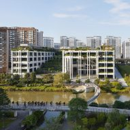 Oasis Terraces is a neighbourhood centre built around a stepped garden