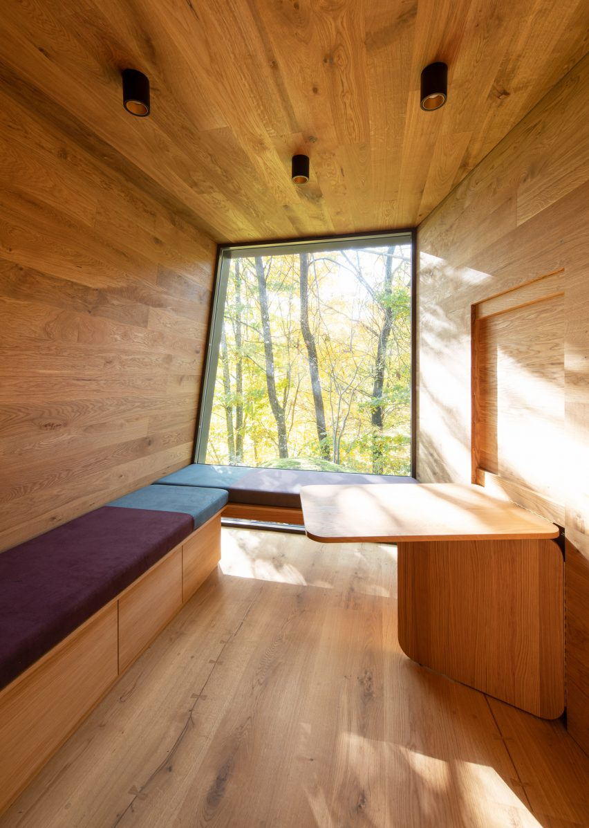 Interiors of Outdoor Care Retreats by Snøhetta in Norway