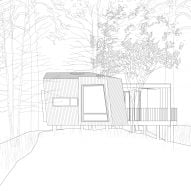 Elevation of Outdoor Care Retreats by Snøhetta in Norway