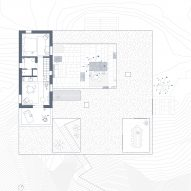 First floor plan of Patio House by OOAK Architects in Greece