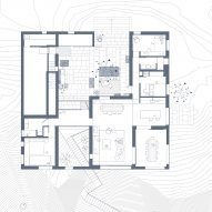 Ground floor plan of Patio House by OOAK Architects in Greece