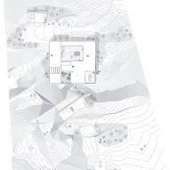Site plan of Patio House by OOAK Architects in Greece