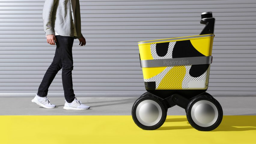Postmates' delivery robot Serve created by New Deal Design
